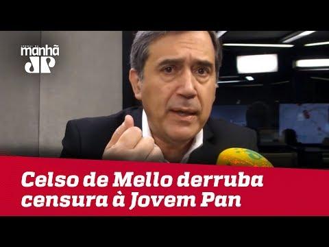 Celso de Mello derruba censura à Jovem Pan por comentário de Marco Antonio Villa