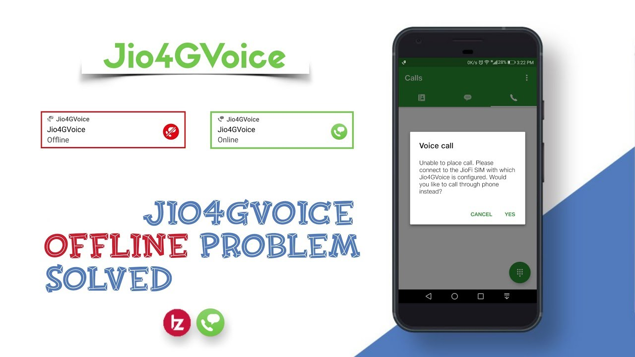 How to fix Unable to place call please connect to jio 4G network to use  Jio4GVoice, by TZ Creationz
