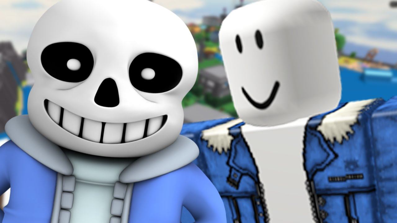 sans plays roblox  roblox undertale roleplay