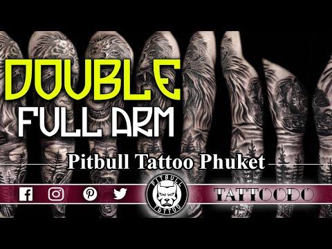 Double Full Arm Sleeve Tattoo
