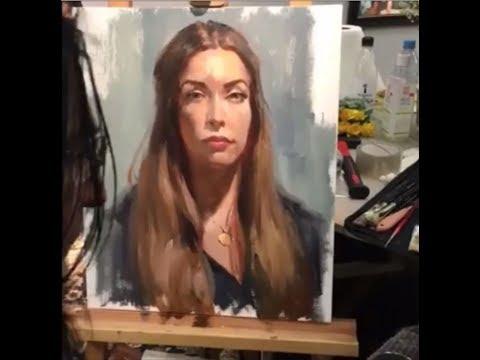 Vladimir Volegov Live Portrait Painting 1