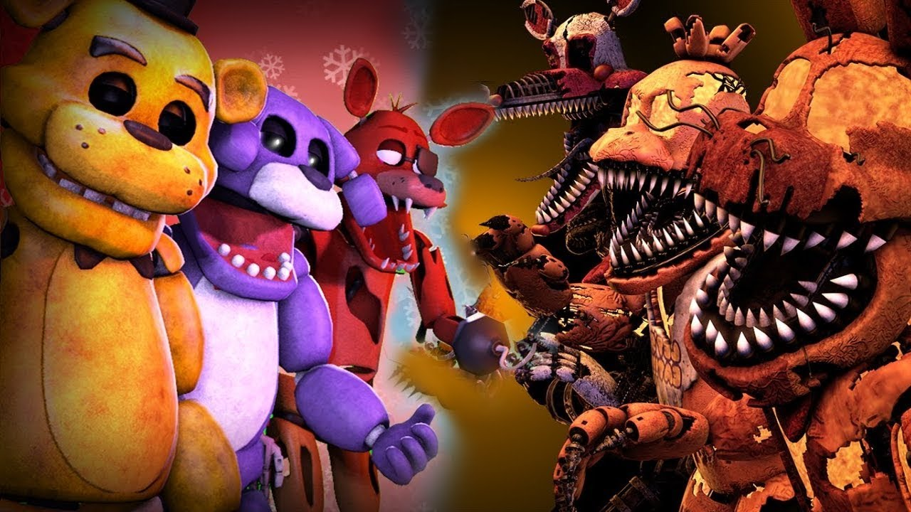 Top 10- EPIC FNAF Fight VS. Animations (2017 Edition) ✔
