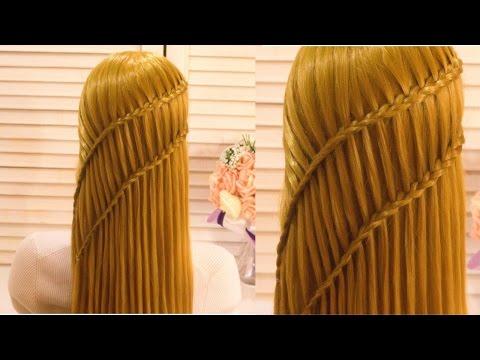 Коса Водопад. Красивая Прическа. Amazingl Hairstyle Tutorial Compilation 2017