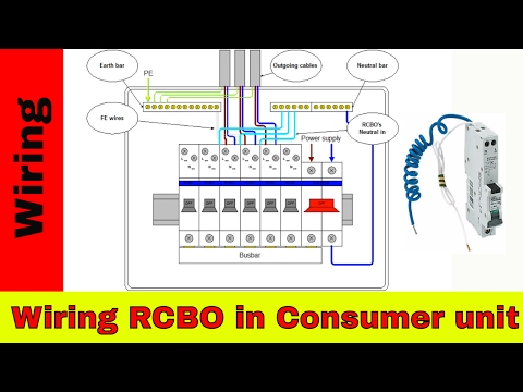How to wire RCBO in consumer unit.