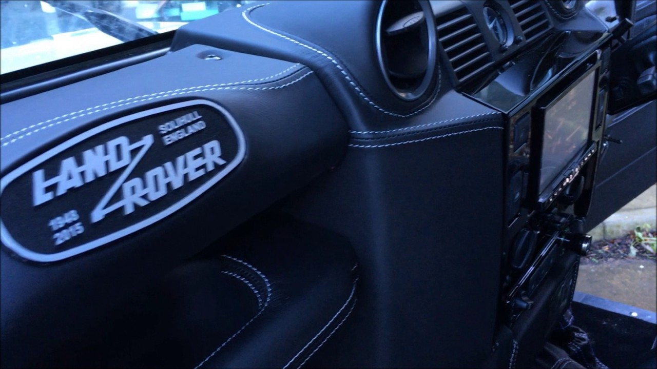 bespoke leather retrim and alpine audio install [ 1280 x 720 Pixel ]