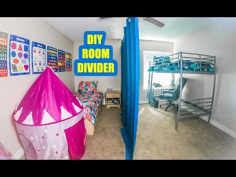 EASY DIY SLIDING ROOM DIVIDER