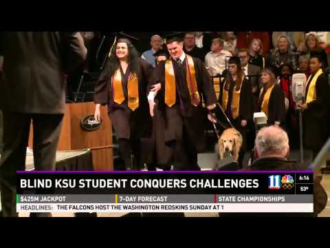 Guide Dog Walks at Graduation with College Student Life With Dogs