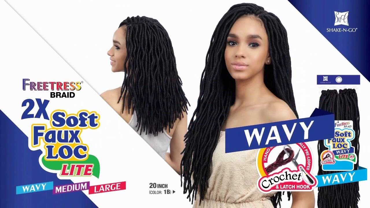 Freetress Synthetic Braid 2x Soft Wavy Faux Loc 20 24pcs Wigtypes You