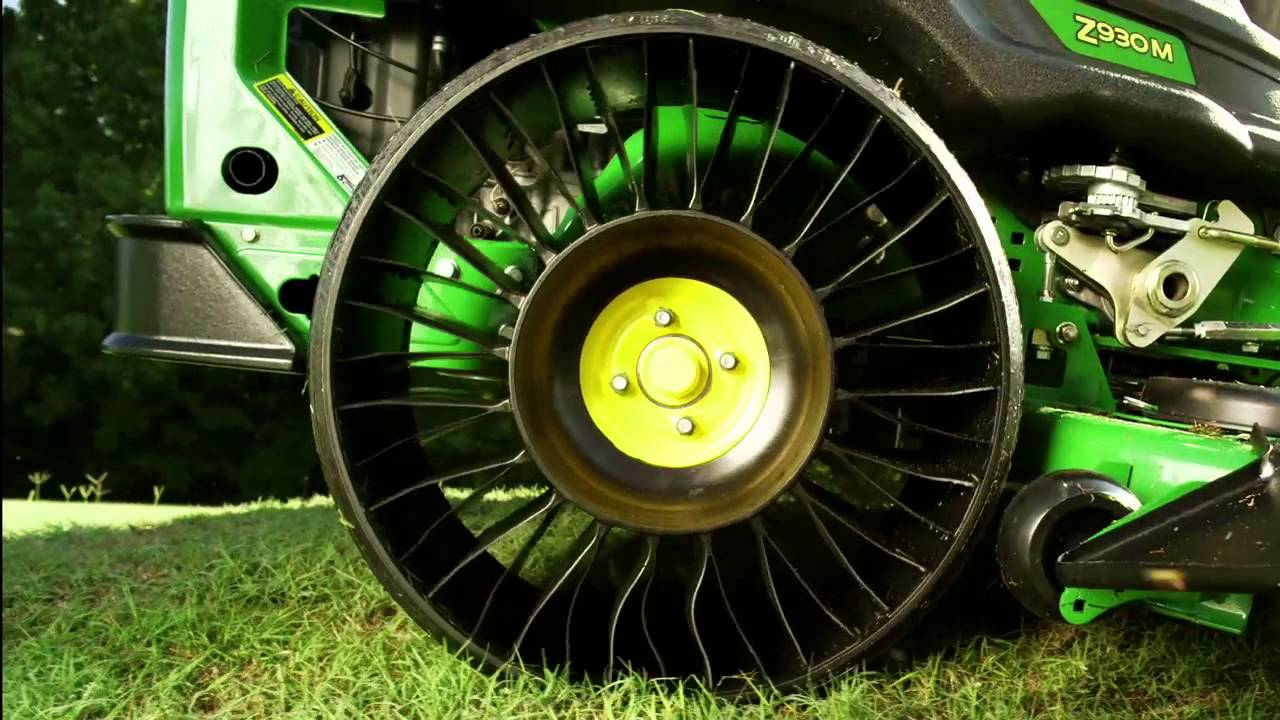 The new MICHELIN     X     TWEEL     TURF exclusively on John Deere ZTrak     The new MICHELIN     X     TWEEL     TURF exclusively on John Deere ZTrak       900  Series Mowers   YouTube