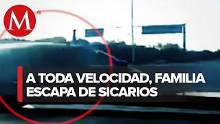 Familia mexicana escapa de sujetos armados que intentaron robarlos al cruzar la frontera
