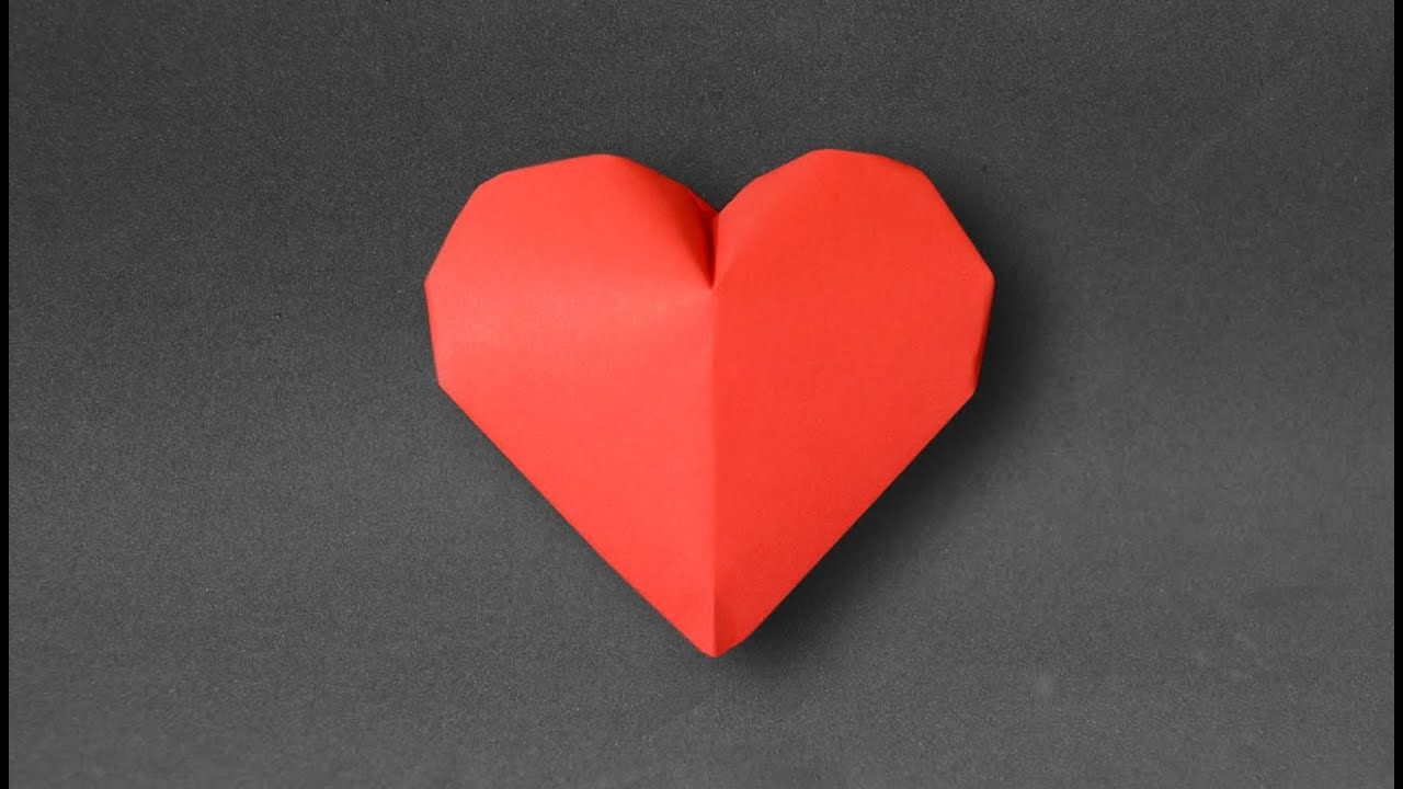origami inflatable heart jeremy shafer youtube