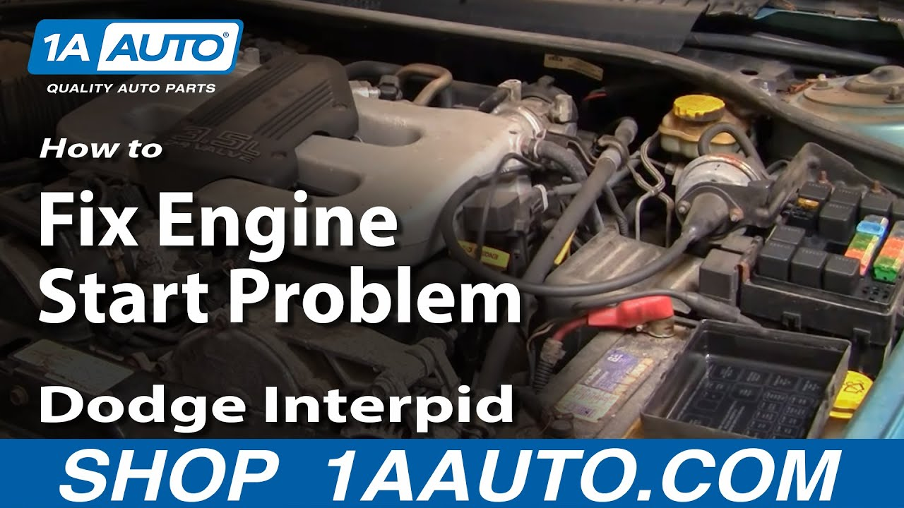 How to Fix Engine Start Problem 93-97 Dodge Intrepid Obd Connector Wiring Diagram Dodge Intrepid on