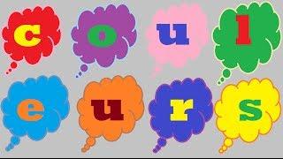 les couleurs  en francais/french colors/apprendre les couleurs