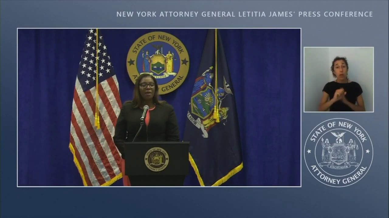 New York Attorney General Press Conference On Dissolving The NRA