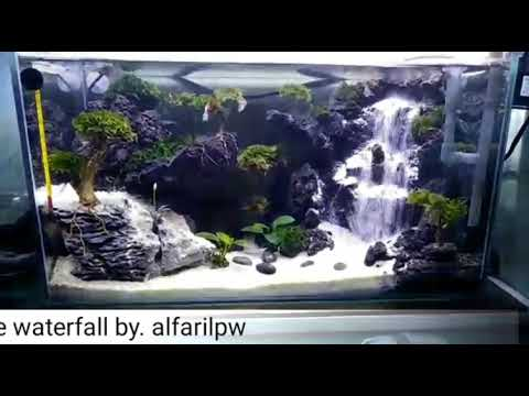 Aquascape waterfall by.alfarilPW - YouTube