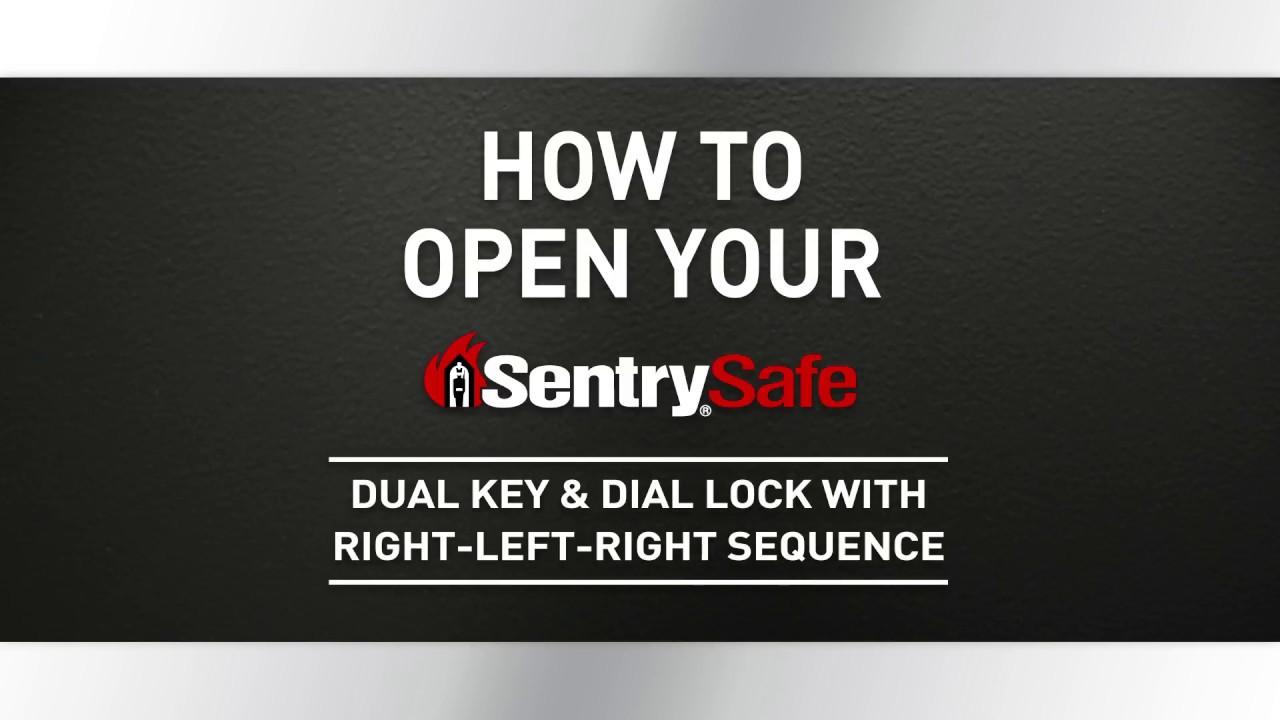 sentry safe how to open with key