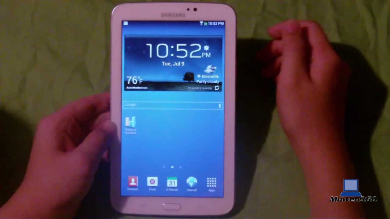samsung galaxy tab 3 7 0 wi fi white 8gb unboxing full review
