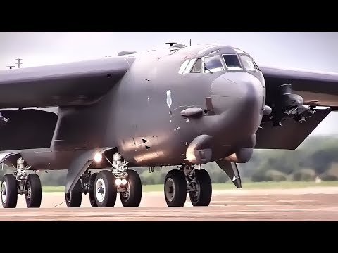 U.S. B-52 Bombers Land At British Airfield • RAF Fairford