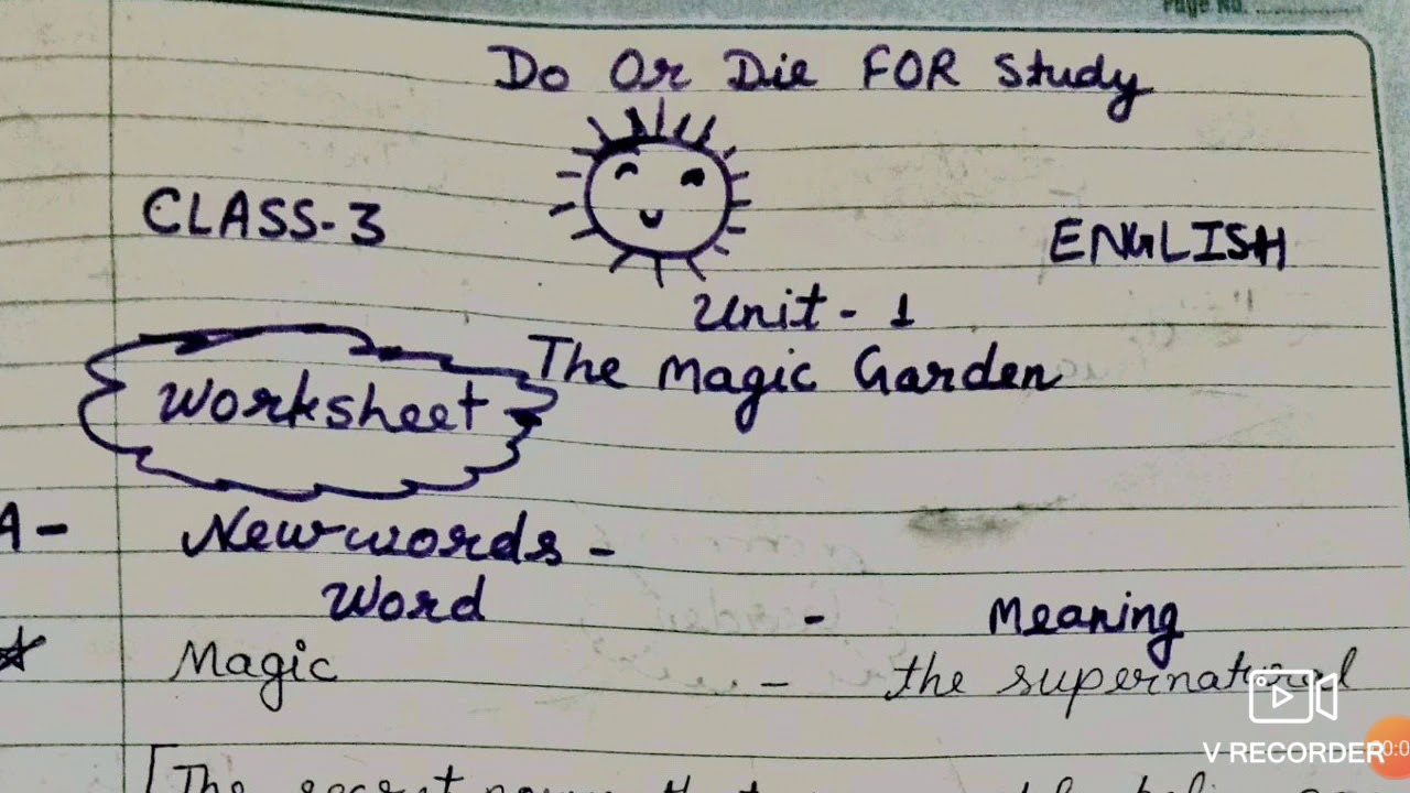 The Magic Garden Class 3rd English Question And Answer With Worksheet Youtube
