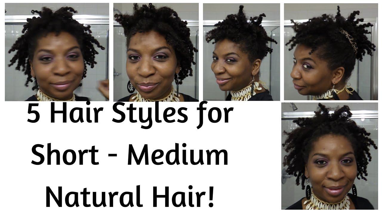 5 NATURAL HAIRSTYLES FOR SHORT TO MEDIUM LENGTH HAIR