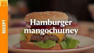 Hamburger mangochutney