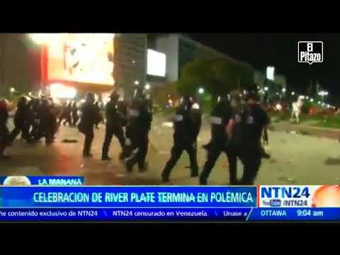 La celebración de la victoria del River Plate se convierte en una batalla campal en Buenos Aires