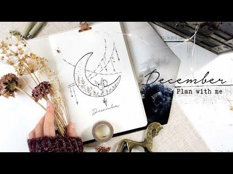 December Bullet Journal Setup   Moon and Stars