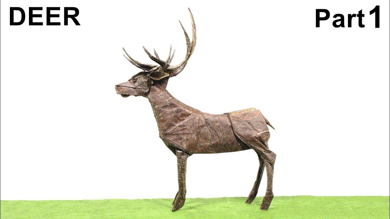 Origami Deer Tutorial Satoshi Kamiya Part 1 Hirsch Ciervo Venado