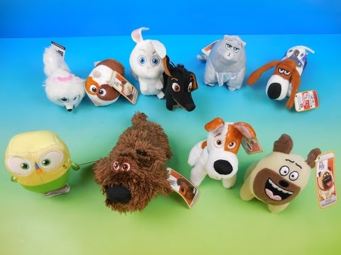 2016 THE SECRET LIFE OF PETS SET OF 10 McDONALDS HAPPY MEAL KIDS MOVIE TOYS VIDEO REVIEW by FFTR