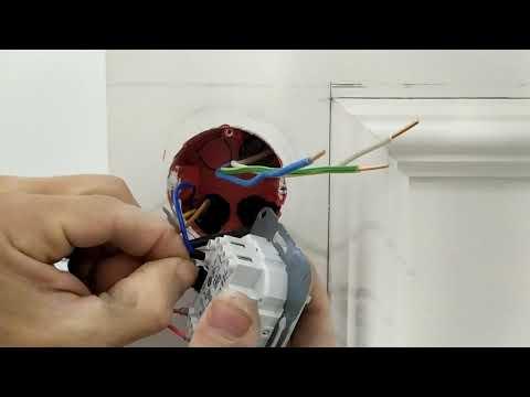 Установка терморегулятора теплого пола (JUNG)