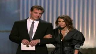 Elizabeth Hendrickson and Billy Miller~Presenting at the 2009 Emmys