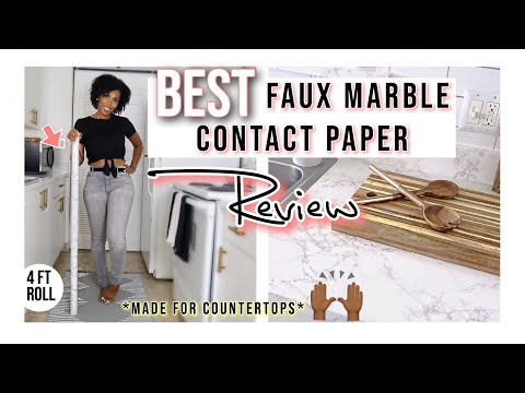 Rental Marble Countertop Contact Paper Review | 6 Month Update 💁🏽♀️