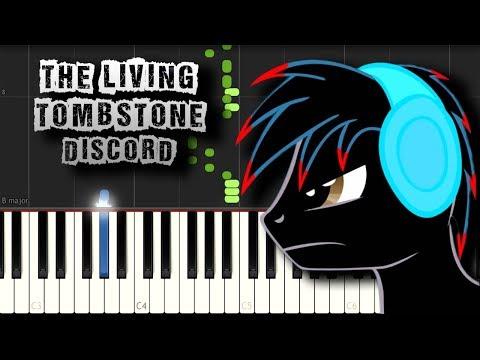 Discord - The Living Tombstone - [Piano Tutorial] (Synthesia) (Download MIDI + PDF Scores)