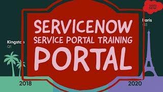 #6 ServiceNow Service Portal Training | Portal