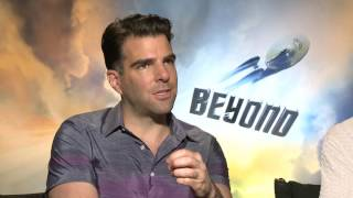 star trek beyond chris pine zachary quinto official movie interview