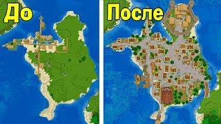 Улучшаем деревню на острове в Майнкрафт! - Версия 1.14