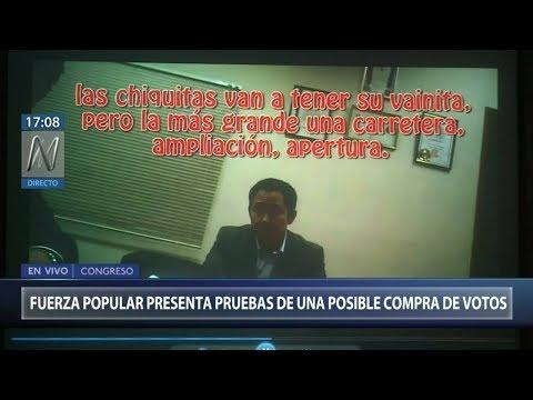 Fuerza Popular presentó pruebas de posible compra de votos de la facción de Kenji Fujimori