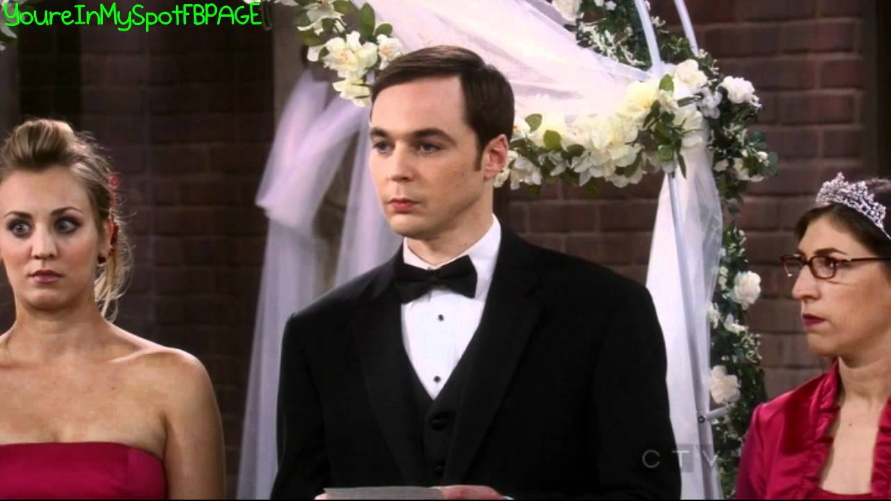Sheldon And Amy Wedding.Sheldon S Wedding Speech The Big Bang Theory