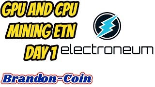 Mining ETN CPU and GPU on Awesome Miner