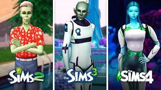 Пришельцы в The Sims   Сравнение 3 частей