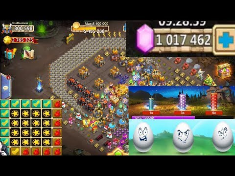 Cant Drop Below 1 Million Gems Full Bingo Card + Events Castle Clash