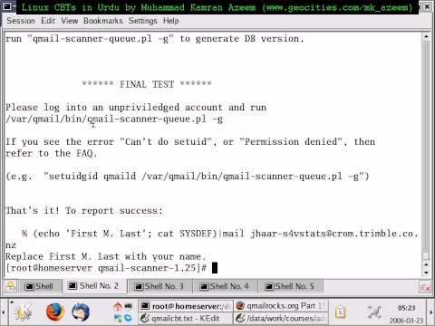 How to setup Qmail - Urdu Linux Tutorial Part 5