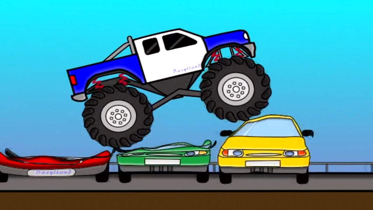 Monster Truck Auta Bajki Dla Dzieci Cartoons For Kids