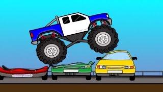 Monster Truck (AUTA) Bajki Dla Dzieci Cartoons For Kids
