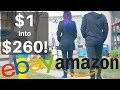 How to turn $1 into $260 | Buying YARD SALE items to resell on Amazon & eBay | Flip VCRs Ralli Roots
