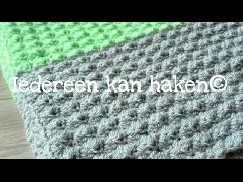 Iedereen kan haken crochet Golfjessteek woondeken