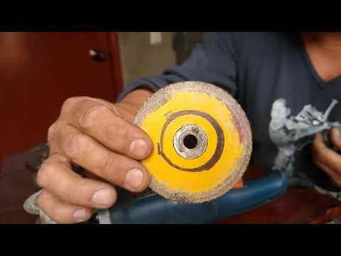 Como convertir el taladro en amoladora/pulidora para cortar círculos en lamina