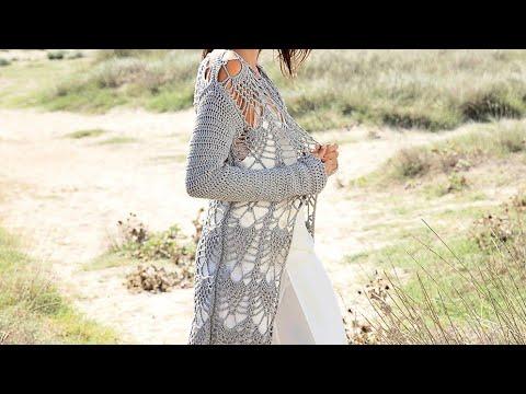 Crochet pattern for cardigan - Узор крючком для кардигана