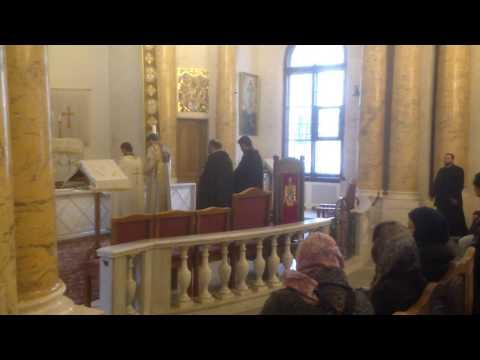 Заключительная часть службы в армянской церкви Св. Екатерины