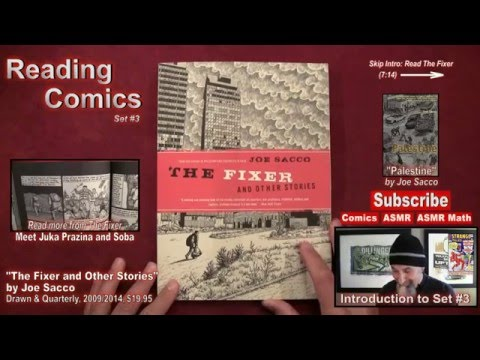 "Reading Comics: ""The Fixer and Other Stories"" by Joe Sacco, Drawn and Quarterly, 2009 [ASMR, Male]"